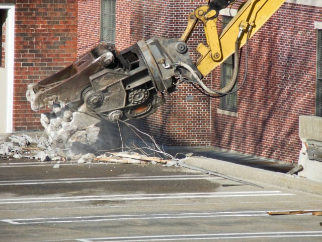 Lexington Street Parking Garage Demo, Framingham MA 213195-059