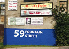 59 Fountain Street Building Sign