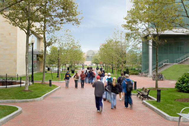 Northeastern University, Boston MA – Pressley Associates (landscape architect)