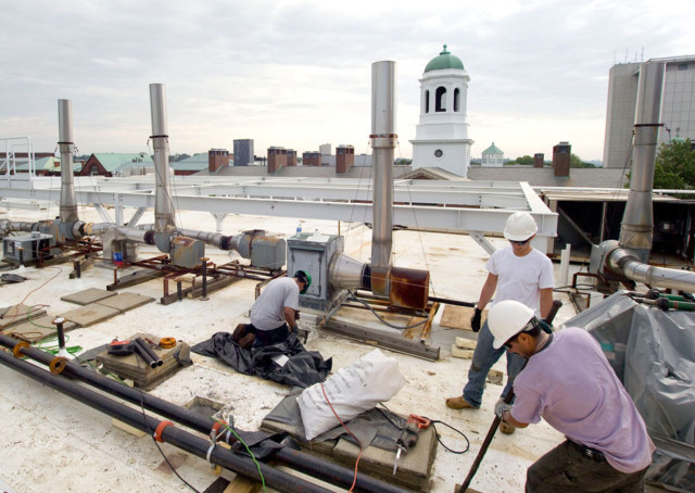 HVAC Installation at Harvard's Gordon McKay Lab of Applied Science – Elaine Construction (GC), CES Group, Inc. (HVAC equipment)