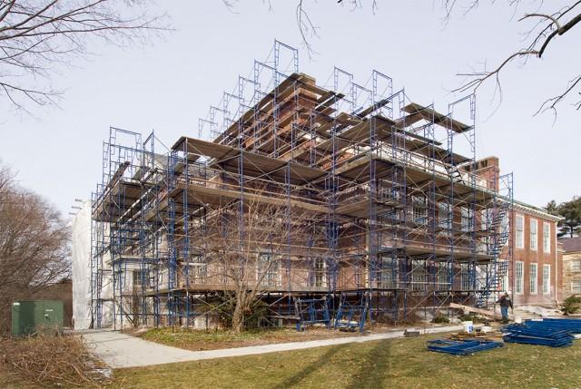 Jonathan Maynard Building Exterior Restoration Progress – Bargmann Hendrie & Archetype (architect), Paul J. Rogan Company (GC)
